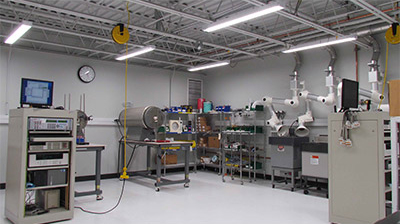 Calibration lab equipment at Pyromation manufacturing facility
