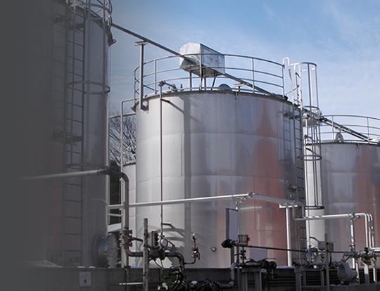 Distillery Tanks - Example of location Temperature Sensors, RTDs and Thermocouples by Pyromation may be used in the food, beverage and dairy industries